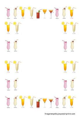 folios para cartas de bebidas para imprimir
