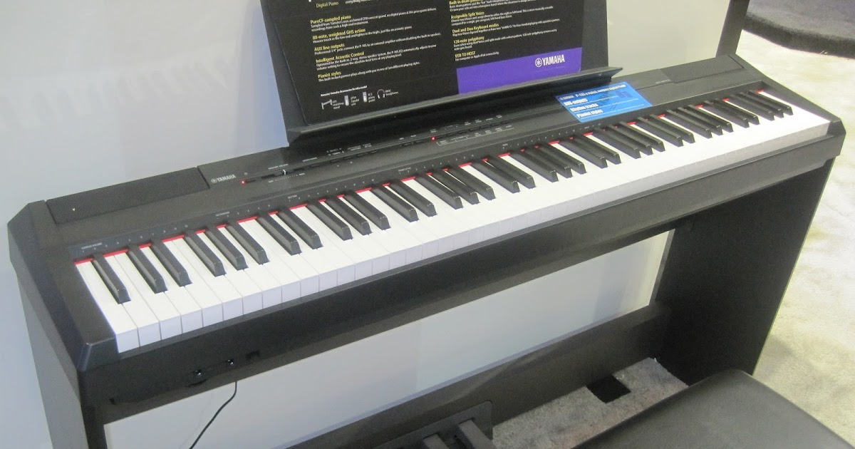 azpianonews reviews review yamaha p105 digital piano. Black Bedroom Furniture Sets. Home Design Ideas