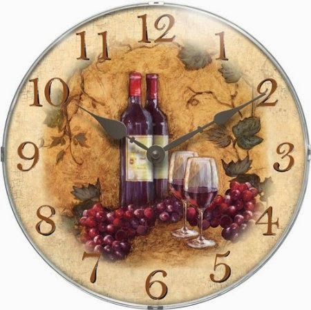 Wine Themed Kitchen Wall Clock