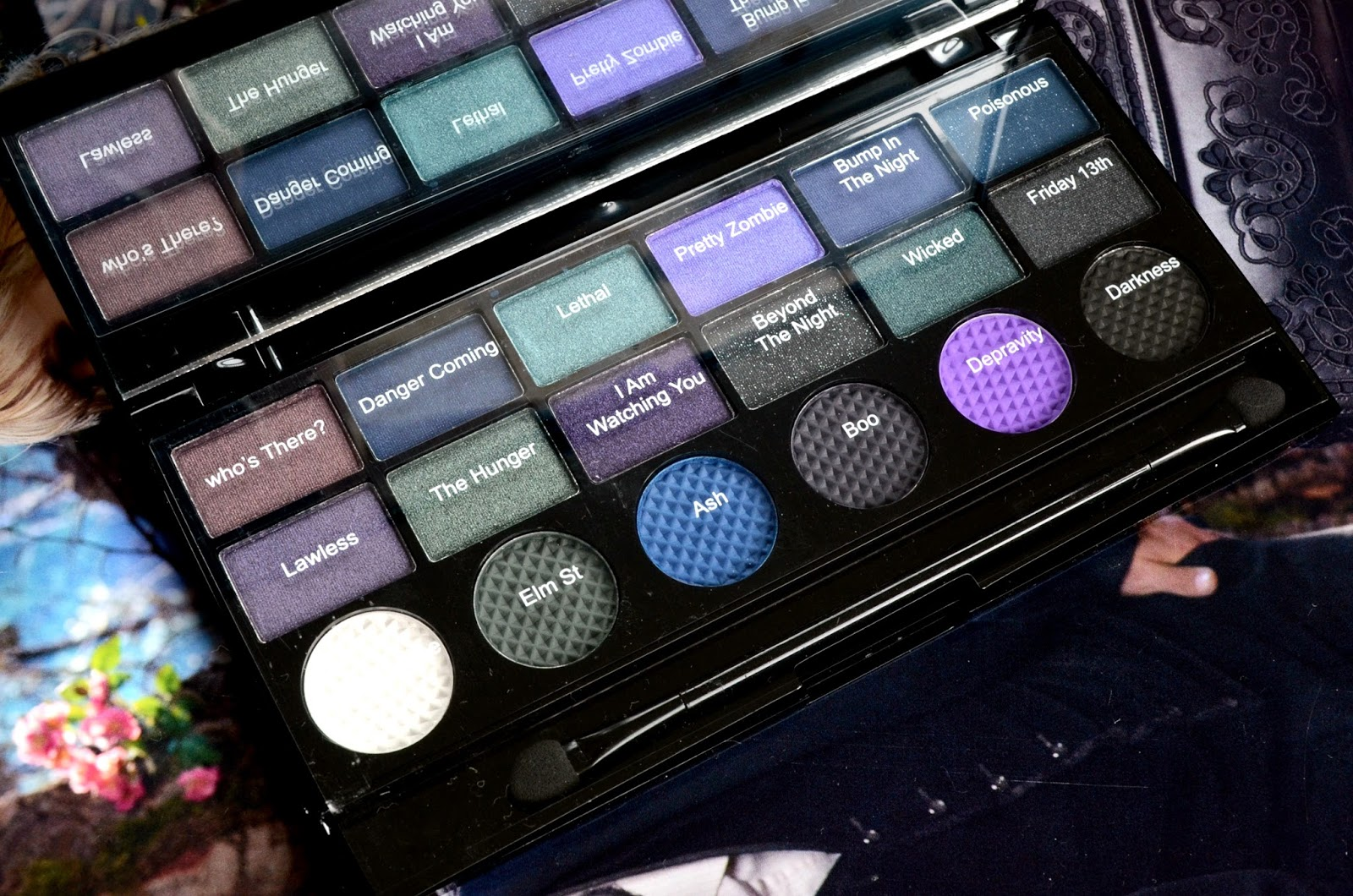 makeup revolution give them nightmares eyeshadow palette