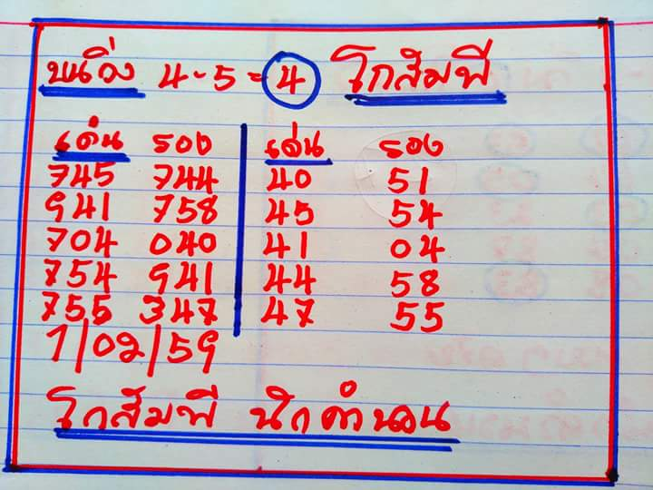 Thai Lotto Tip 001: Thai Lotto VIP 3up & Down Direct Sets Tip 01 Feb ...