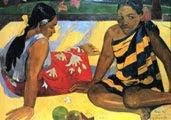 Paul Gauguin (44 años) - Parau api (¿Qué hay de nuevo?, 1892)