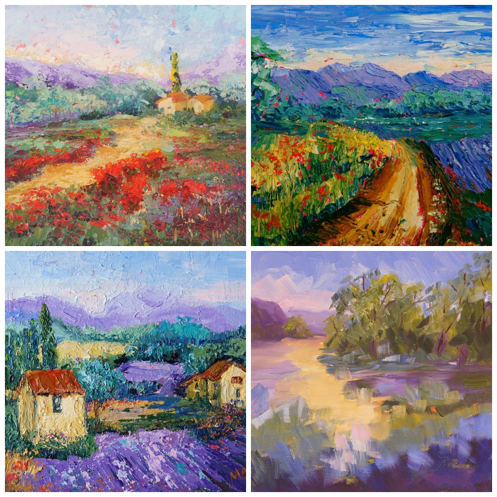 Palette Knife Painters Provence Landscapes SOLD
