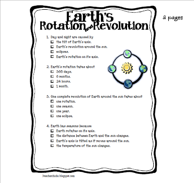 Earth Rotation and Revolution Animation http://3teacherchicks.blogspot.com/2012_04_01_archive.html