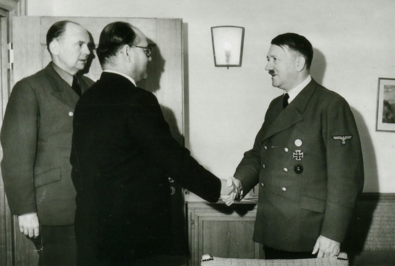 Subash Chandra Bose with Adolf Hitler