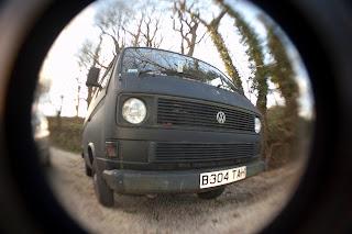 classic camper van Cornwall