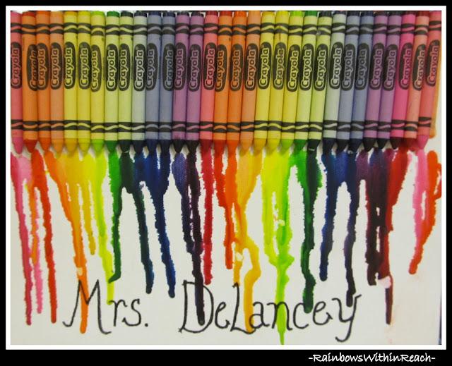 photo of: Art Room Crayon Melt (Art Room RoundUP via RainbowsWithinReach)