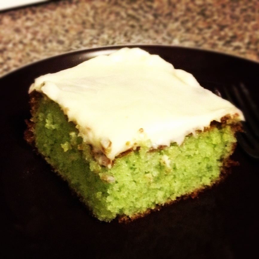 Champagne and Cheeseburgers: Key Lime Cake with Cream Cheese Icing