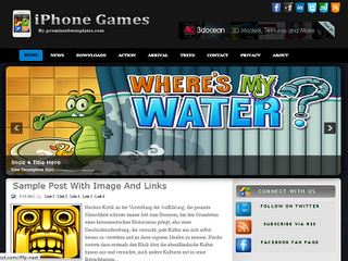 iPone Games Blogger Template