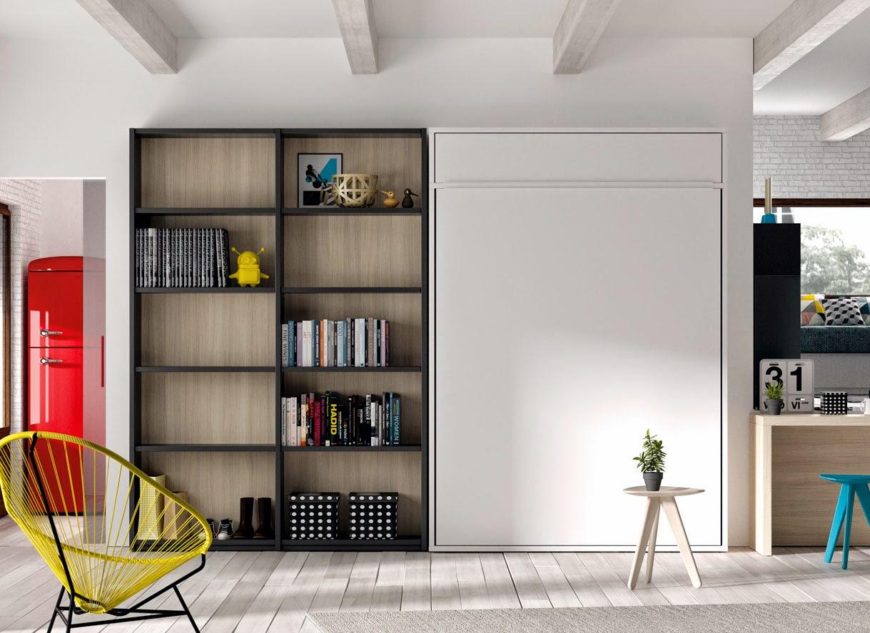 Cama abatible pared cama abatible dormitorios juveniles for Dormitorios modernos para adultos