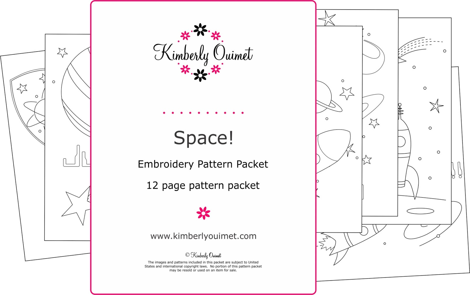 Big b space a new embroidery pattern for Space embroidery patterns