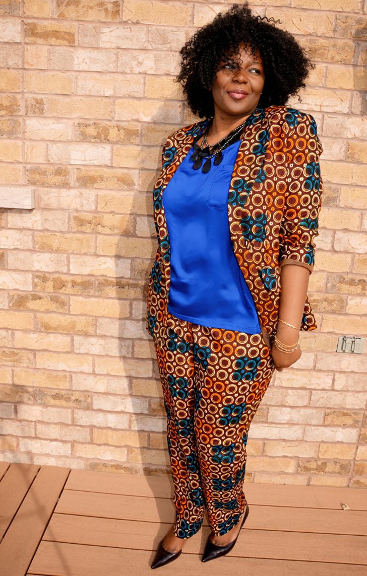 Plus size african print suit