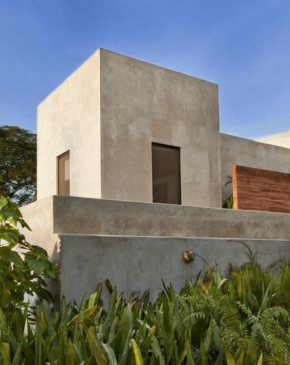 Dise o de moderna casa hacienda fachada y dise o de for Casas modernas tipo cubo