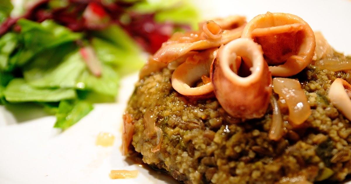 Pastel de lentejas con calamar encebollado cocinar para for Cocinar calamares pequenos