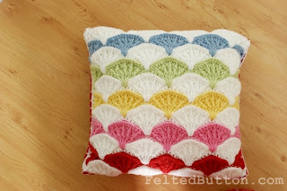 Paintbrush Pillow and Afghan Crochet Pattern by Susan Carlson of Felted Button