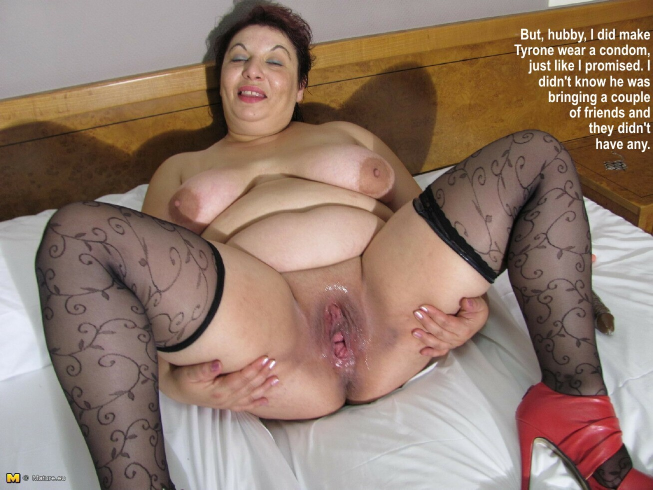 Bbw mature mom captions
