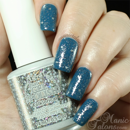 IBD Just Gel Polish Folklorical over Hippie Dippie Swatch