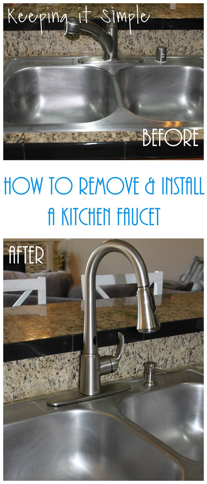 How to Remove and Install a Kitchen Moen Faucet • Keeping it Simple