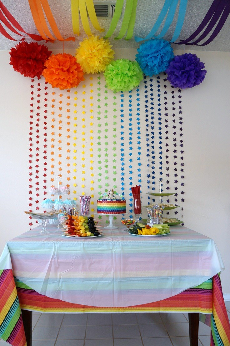 Fiestas infantiles arco ris for Ideas decoracion cumpleanos