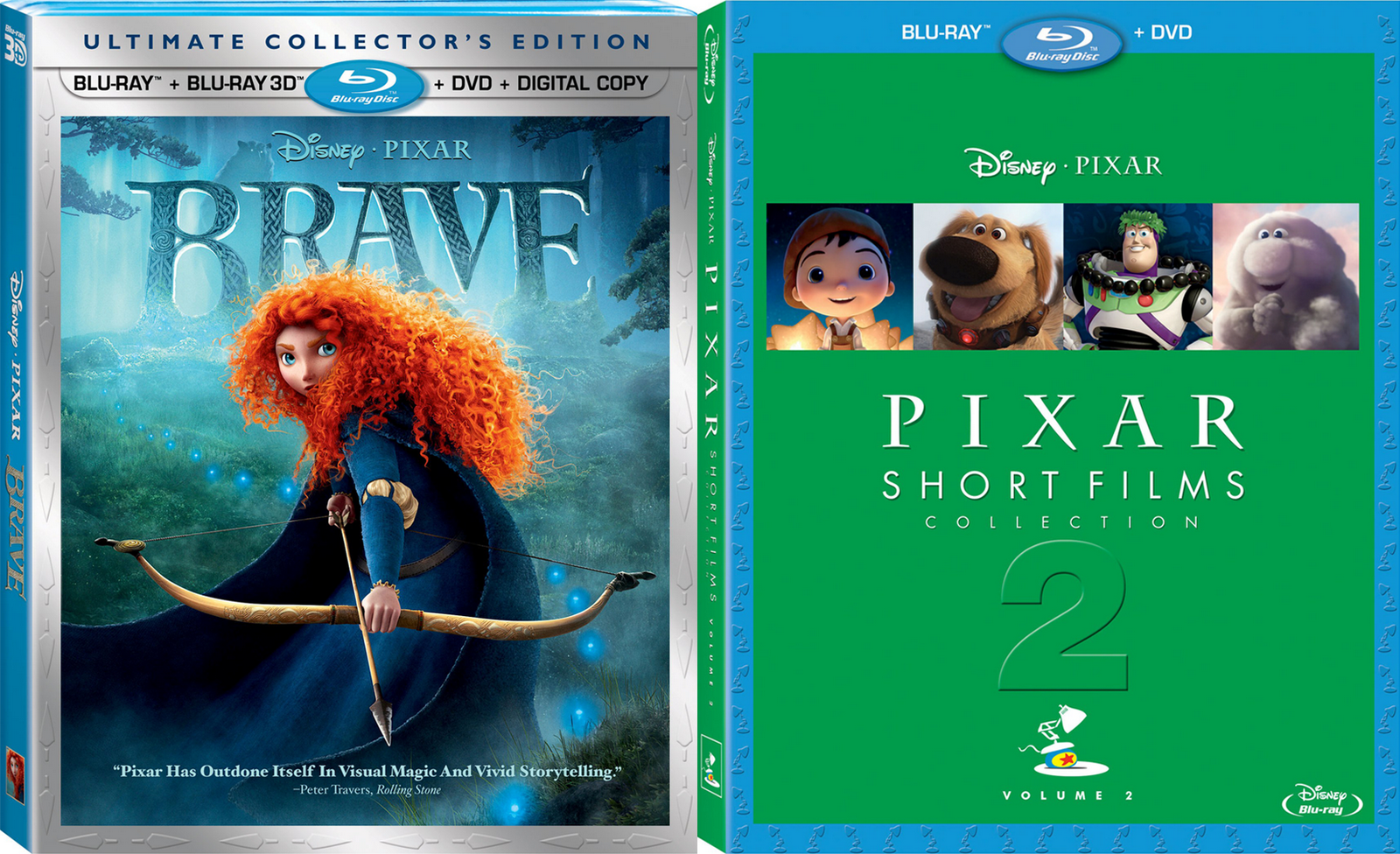Blu-ray Review: Brave & Pixar Short Films Collection Volume 2