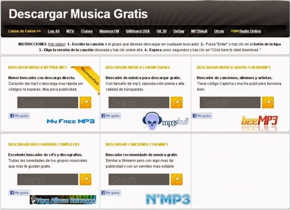 Buscador de música gratis Buscador gratuito de música en MP3