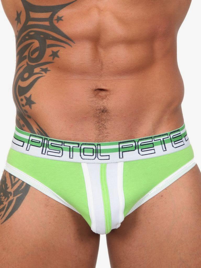 Pistol Pete Blowpop Brief Lime Detail Gayrado