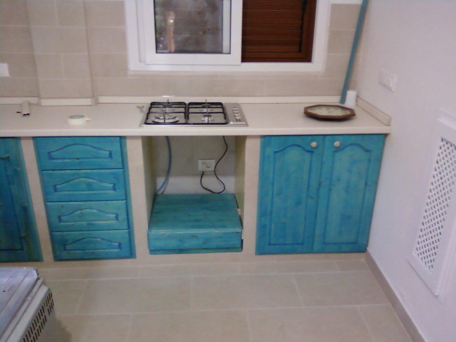 Fai da te hobby legno cucina in muratura for Mobili cucina fai da te