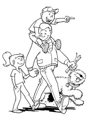 Desenho de Dia dos Pais para colorir