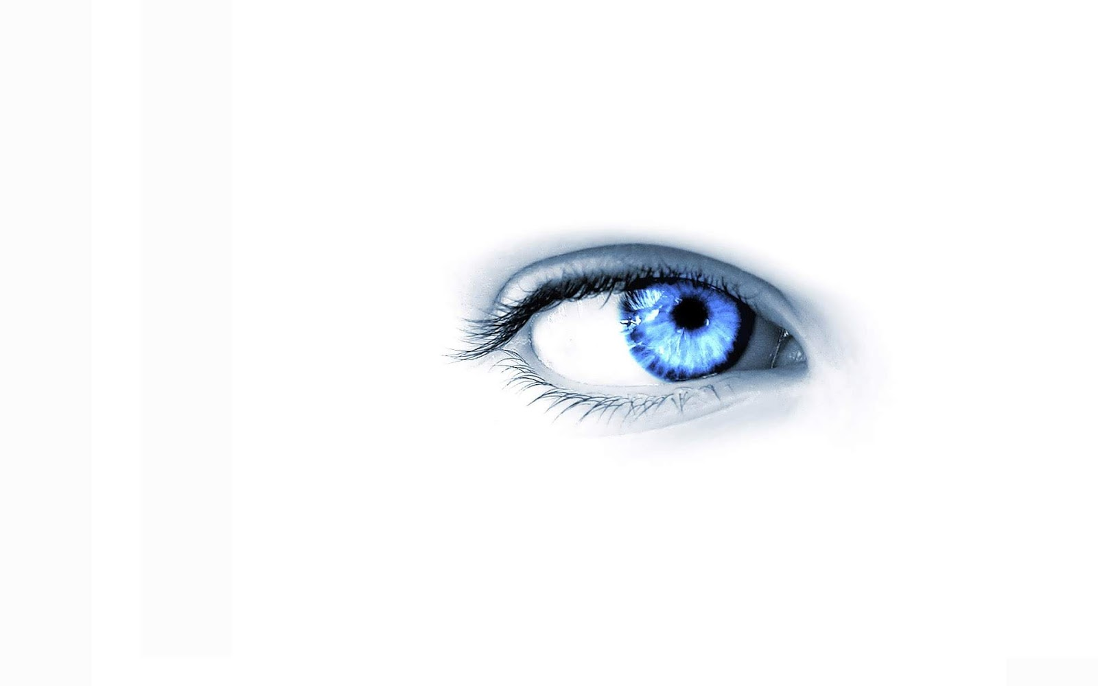 black and white wallpapers blue eye on white background