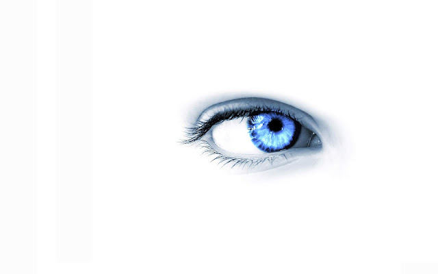 Blue Eye on White Background White-blue Wallpaper hd