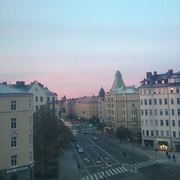 sunrise in vasastan, stockholm