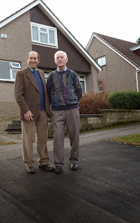 Councillor Laurie Bidwell and Bob Wilson, Falkland Crescent, Broughty Ferry