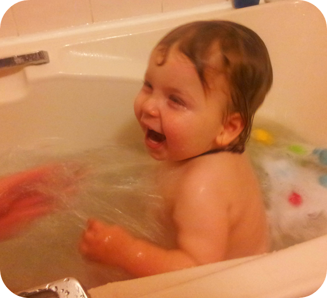 toddler bath fun