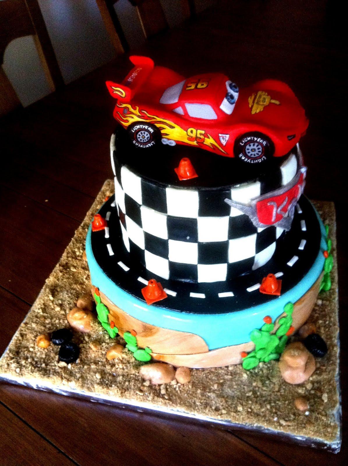 Cake With Fondant Cars : Hush Hush Sweet Charlotte Cakes: CARS 2 BIRTHDAY CAKE