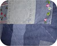 ProsperityStuff Denim Jeans Quilt detail 2