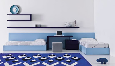 modern blue teen bedroom design