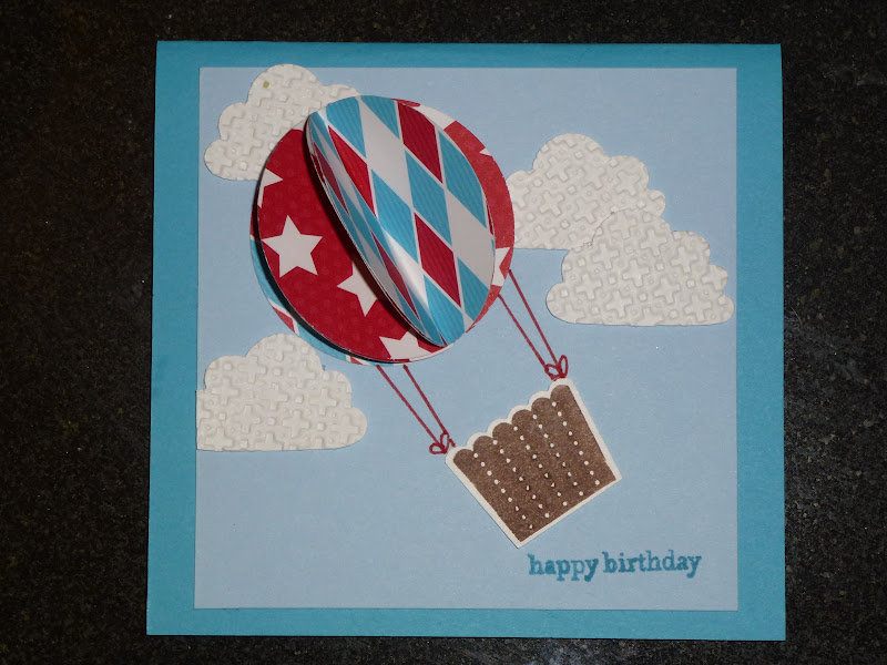 Crafty thinker hot air balloon birthday card hot air balloon the cardbase is marina mist on which a square of bashful blue card was placed on the base the happy birthday sentiment is from bookmarktalkfo Image collections