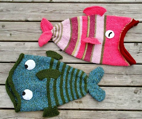 Knitting Pattern For Fish Hat : iKnitts: Patron para tejer un Gorro Big Fish (version crochet y a dos agujas)