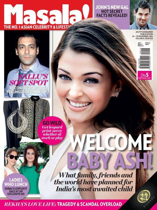 1 - Aishwarya Rai On The Cover Of Masala Magazine Nov 2011