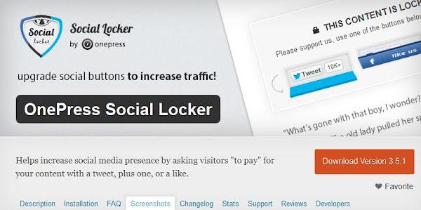 Social Locker: WordPress İçerik Kilitleme Eklentisi