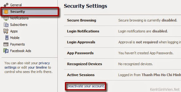 Cách khóa tài khoản facebook 1