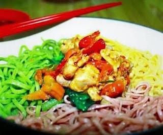 Resep Cara Membuat Mie Pelangi Bumbu Mie Ayam