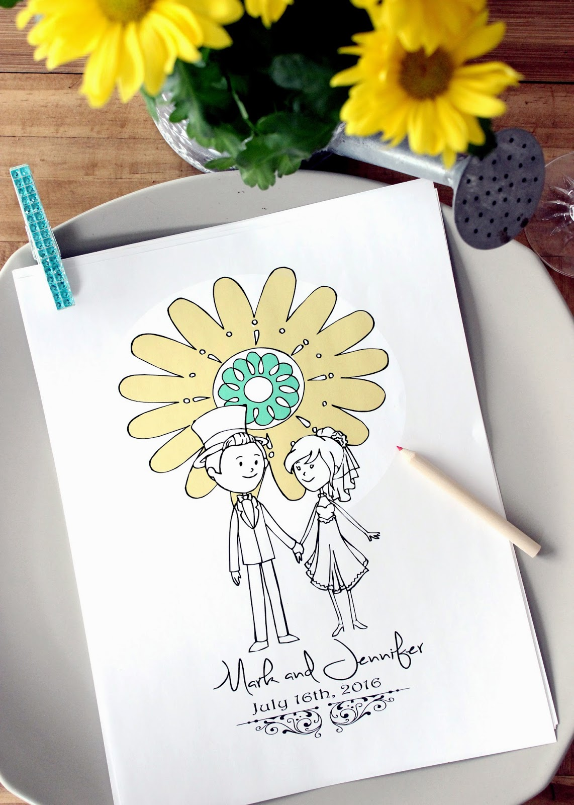 Wedding Coloring Activity Books for Kids - Wedding Favors for Kids ...