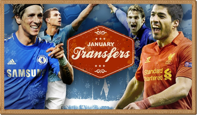 JANUARY TRANSFER WINDOW SEASON 2012/2013, SENARAI PERPINDAHAN PEMAIN