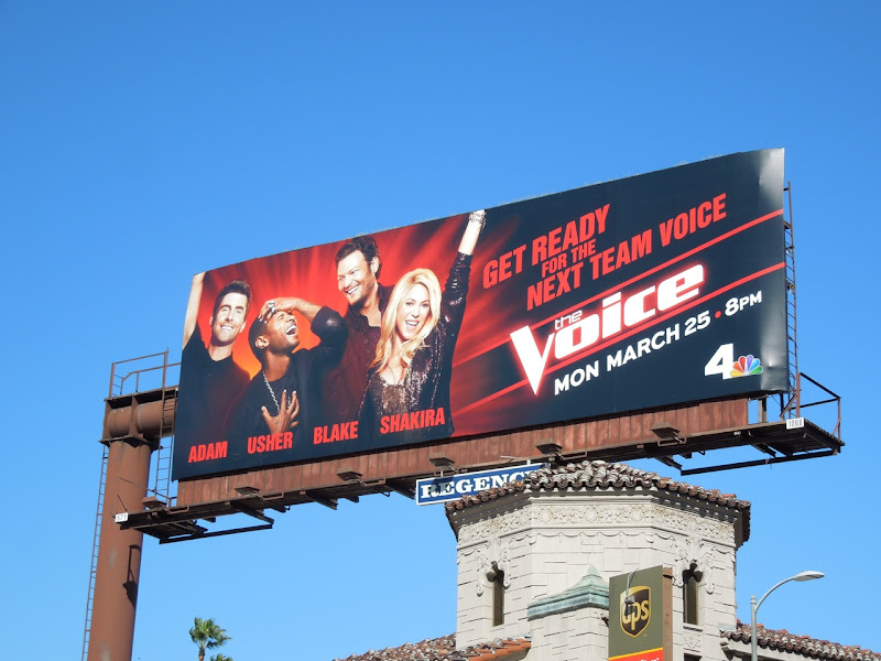 Voice season 4 Usher Shakira billboard