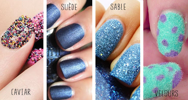 Ongles effets spéciaux textures innovation nail art vernis