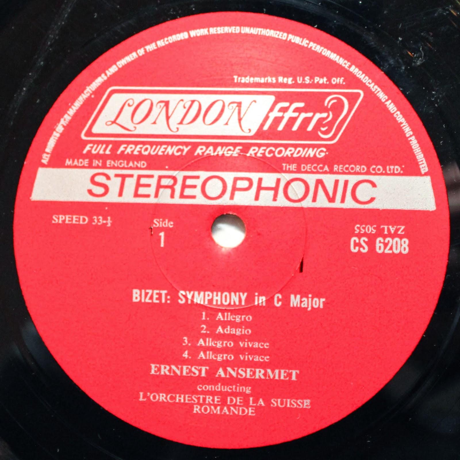 From Miles To Mozart: London CS 6208: Ansermet's Bizet Album