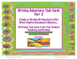 Writing Adventures Task Cards Part 2