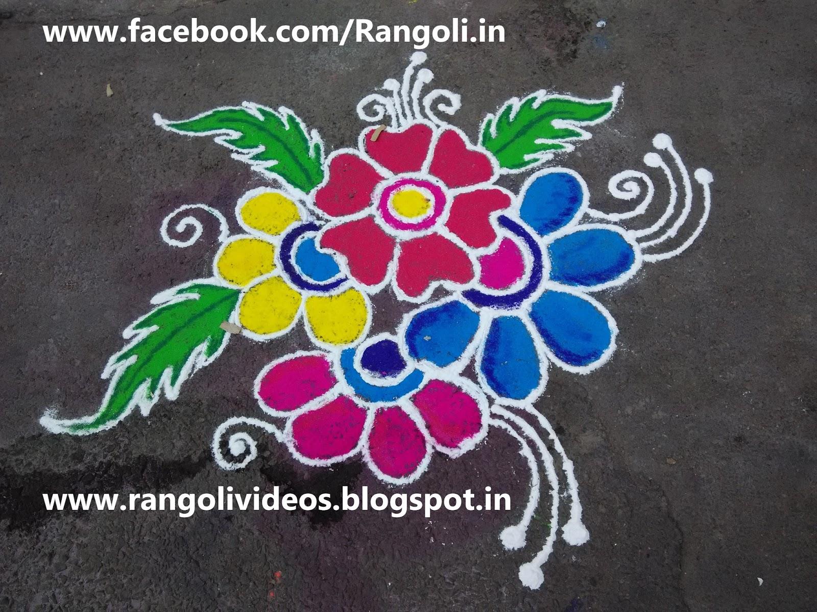 Diwali rangoli kolam designs images margazhi rangoli for Home rangoli designs
