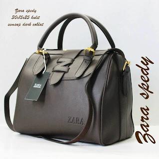Tas Zara Terbaru Tas Zara Spedy Semi Super dark coklat